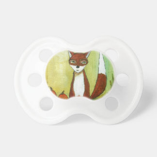 Making Choices Woodland Fox Art Painting Pacifier