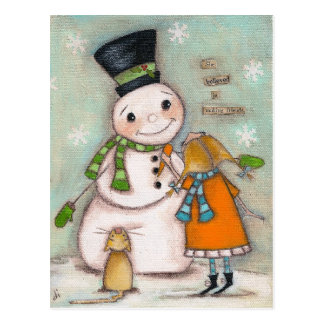 Making Friends - Holiday Postcard
