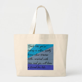 making friends large tote bag