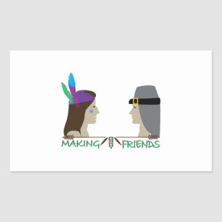 Making Friends Rectangle Stickers
