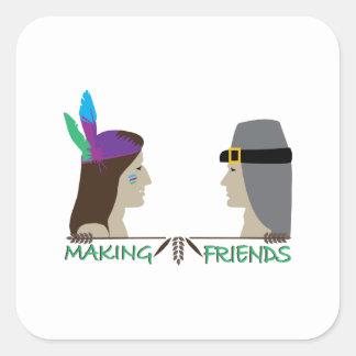 Making Friends Square Sticker