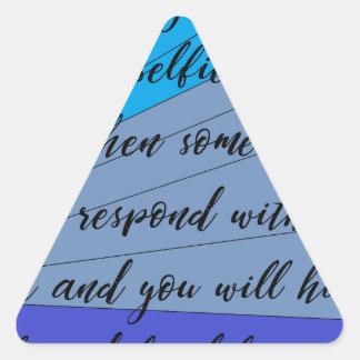 making friends triangle sticker