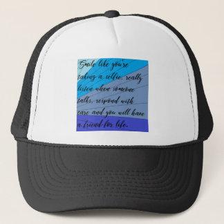 making friends trucker hat