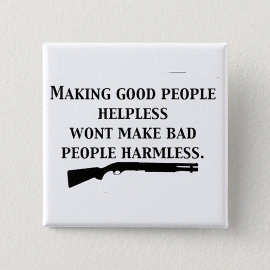 MAKING GOOD PEOPLE HELPLESS 2 INCH SQUARE BUTTON