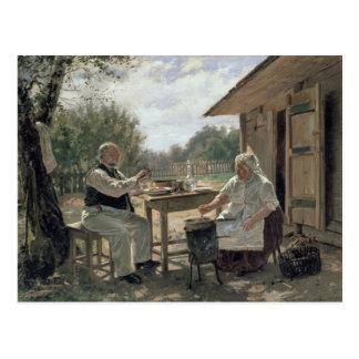 Making Jam, 1876 Postcard