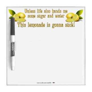 Making Lemonade Dry-Erase Whiteboards