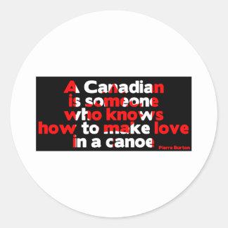 Making Love in a Canoe Round Sticker