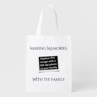 Making Memories With The Family Add Your Photo Reusable Grocery Bag