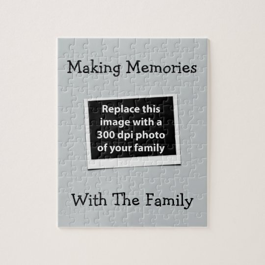 Making Memories With The Family Custom Photo Jigsaw Puzzle