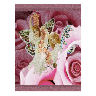 Making Rose Necklaces Postcard
