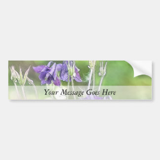 Making Seeds - Blue Columbines Bumper Sticker