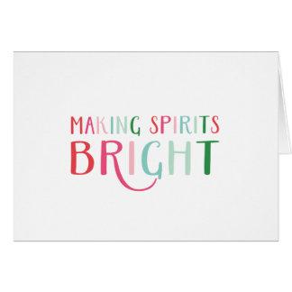 Making Spirits Bright Colorful Holiday Card