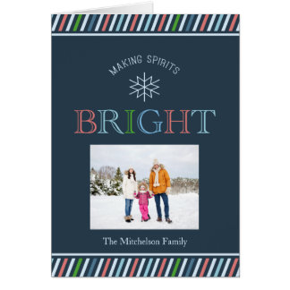 Making Spirits Bright Photo Holiday Card