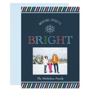 Making Spirits Bright Photo Holiday Flat Card