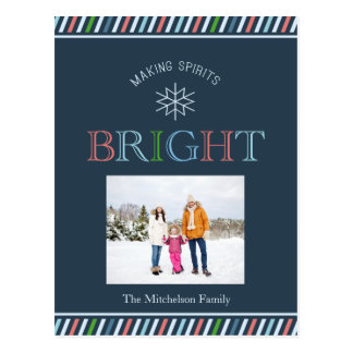 Making Spirits Bright Photo Holiday Postcard
