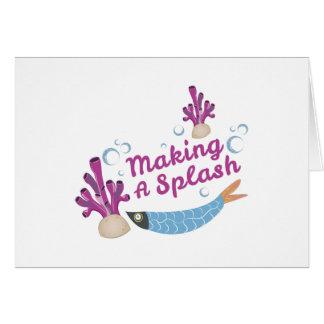 Making Splash Card