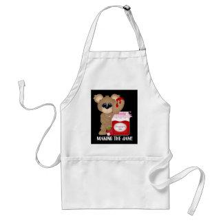 Making the jam cute kitchen bear add name apron