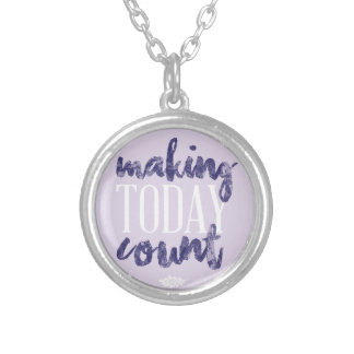 Making Today Count Silver Plated Necklace