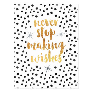 Making Wishes Quote Postcard