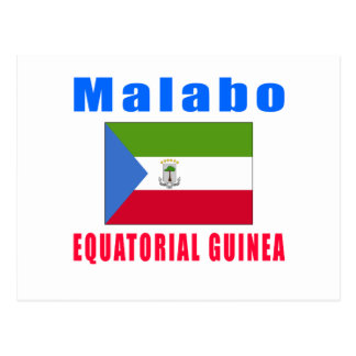 Malabo Equatorial Guinea capital designs Postcard