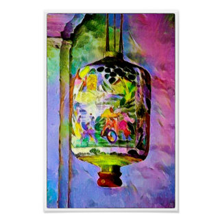 Malacca Lantern Watercolour - Art Print