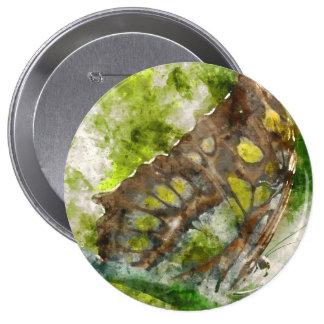 malachit butterfly 4 inch round button