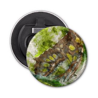 malachit butterfly button bottle opener