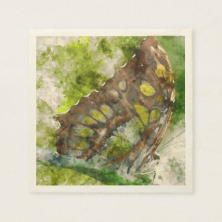 malachit butterfly disposable napkins