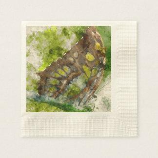 malachit butterfly paper napkin