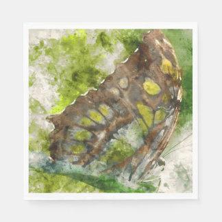 malachit butterfly paper napkins