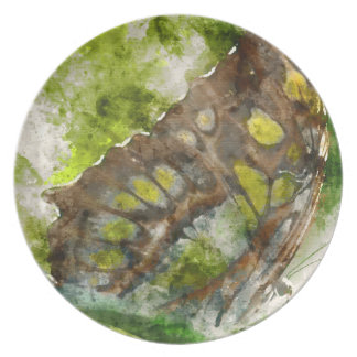 malachit butterfly party plate