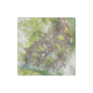 malachit butterfly stone magnets