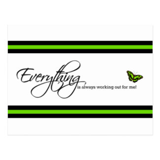 Malachite Butterfly - Everything is always working Postcard