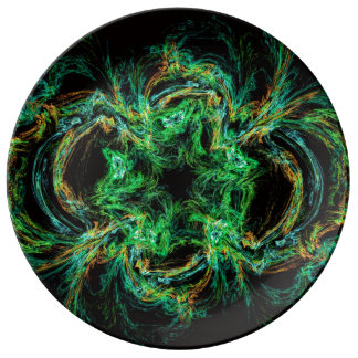 Malachite fractal as a slice of decorative stone plate