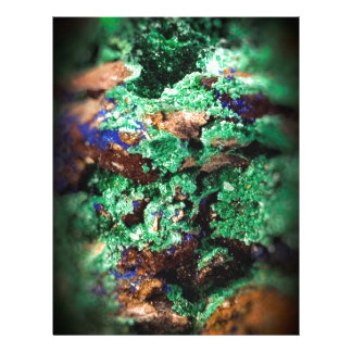 Malachite Lapis Azurite Gems Gemology Rock Letterhead Design