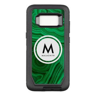 Malachite Mineral Monogram OtterBox Defender Samsung Galaxy S8 Case