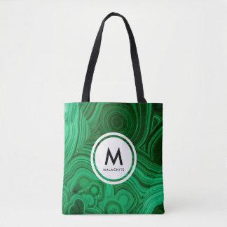 Malachite Mineral Monogram Tote Bag