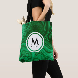 Malachite Mineral Monogram Tote Bag