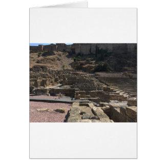 Malaga; amphitheater card