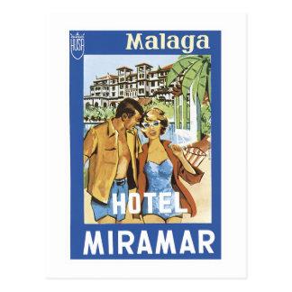 Malaga Hotel Miramar Postcard