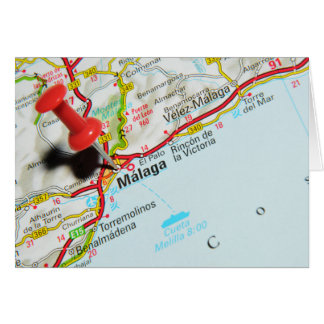 Malaga, Spain Card