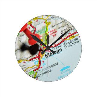 Malaga, Spain Round Clock