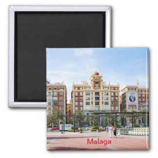 Malaga. View of the city center Magnet