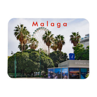 Malaga. View of the city center. Magnet
