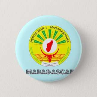 Malagasy Emblem 2 Inch Round Button