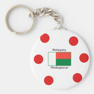 Malagasy Language And Madagascar Flag Design Keychain