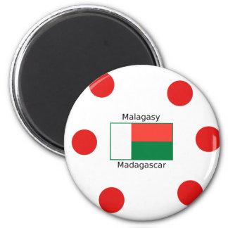 Malagasy Language And Madagascar Flag Design Magnet