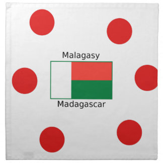 Malagasy Language And Madagascar Flag Design Napkin
