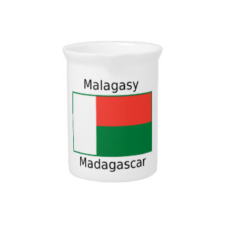 Malagasy Language And Madagascar Flag Design Pitcher