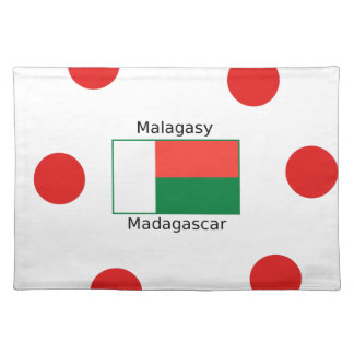 Malagasy Language And Madagascar Flag Design Placemat